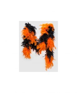 Boa negru/portocaliu - Accesorii Sexy -