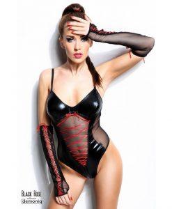 Body Black Rose S/M cu manusi - Body -