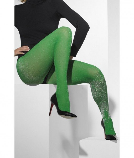 Ciorapi Green Glitter OS – Dresuri – Colanti –