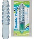Dildo Double Twist - Clear Blue - Dildouri -