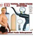 Pompa de vid cu vibratii si manometru Total Erection System pentru cresterea penisului