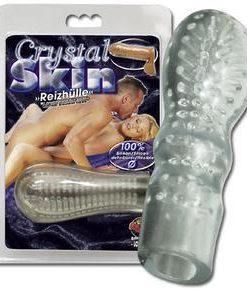 Prelungitor Penis Crystal Skin Reizhulle pentru o penetrare voluminoasa - Inele-Mansoane-Prelungitoare -