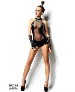 Body Izabela PREMIUM S/M negru cu manusi si zgarda - Body -
