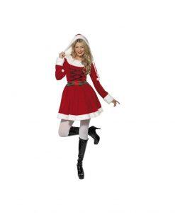 Costumatie Miss Santa Hood S - Costume Craciunite Sexy -