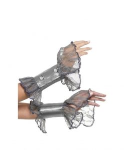 Mansete Grey Lace - Accesorii Halloween -