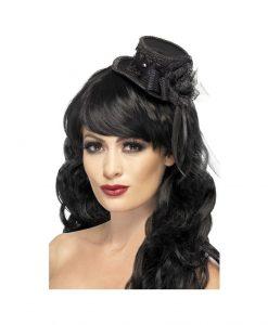 Mini Palarie Gothic Fascinator - Accesorii Halloween -