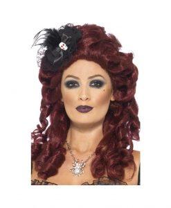 Mini Palarie Skull Bow - Accesorii Halloween -