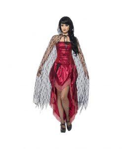 Pelerina Lace neagra - Accesorii Halloween -