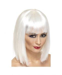 Peruca Glam alba - Accesorii Halloween -